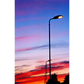 sky landscape sunset holidays evening lamps blue red
