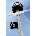 zuiderdam cruise halfmooncay bahamas ship mast pirate flag