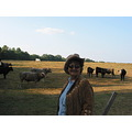 this is me down on the farm with the cows