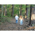 My son and daughter along the reservoir near our house.  Late summer 2011.