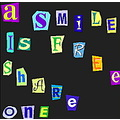 letters smile share