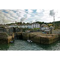 7967 Manipulated Cornwall Charlestown UK Sea Coast Harbour