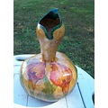 vase woodburn handpainted gourds stoneakin calla lily