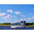 Sailingboat Dolly 2 Skalderviken Skane Sweden 2011 June Blue House