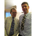 Boxing Day  Stephen the taxi man and David the Dairy Farmer compared new ties...