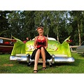 Jennie Mark green Cadillac 1950 1959 Custom paint Skane Sweden 2011 Sept