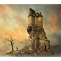 safehouse castle rock fantasy collage photomontage surreal daydream mattijn