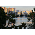 aventura florida condos buildings lake trees