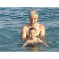My father and my son After so much crying, my son loved sea!!! :-D