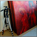 red art women colour color tripod photography manfrotto painting
