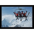 friends skiing france alps mountains winter snow