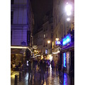 quartier latin street night france paris