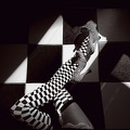 chess legs shoes stockings floor series black white surreal woman keit