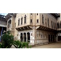 inside double haveli mandawa rajasthan india
