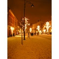 sibiu romania winter architecture lights christmas city center