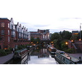 Birmingham City Metro Canal Night Urban