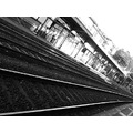 railway station rapallo italy black and white