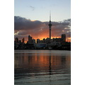 auckland city sunrise skytower