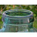green glass olive bottle terrace garden home alora malaga andalucia spain