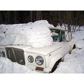 jeep truck white Easton Washington winter snow