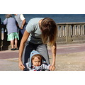 fr cabourg beach ilan 2006 learning walk seaside hands focus concentration