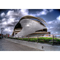 Valencia museum hdr photomatix parksky clouds Spain