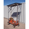 electric solar charged riding mower