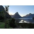 mitre peak milford sound fiordland mountains new_zealand