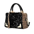 New Hot Luxurious Sequins Leopard Print Women Handbags Fashion Messenger Bag