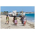 women beaches boats anakao madagascar