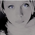 portrait woman people face series art black white blue classic my keit keitology