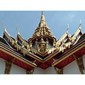 Close up roof detailing in the sie temples near Grand Palace Bangkok