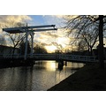 bridge oudepekela water canal canalclub sunset holland