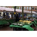 Weekend market in Rugby, England