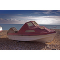 boat on eastbourne beach