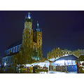 Mariacki  Church and Cracow market at night