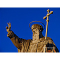 saint philip statue feast Street decorations feast celebration relig