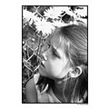 girl niziolek poland polish bw flower