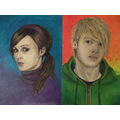 oil paintings portraits me girl boy colours