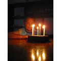 Birthday 9 candles cake