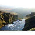 Landscape canyon mountain river Iceland