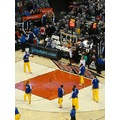 At 6:56pm-Toronto Raptors & Cleveland Cavaliers(Yellow pants) Toronto,Ont.,On Saturday,Jan.26,2013