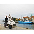 Female Fotographer MAN Sculpture Helsingor 2012 August Denmark