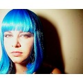 emma in blue wig