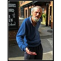 This is David. He stands outside his local pub The White Swan, in Henley In Arden, to have a smok...