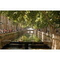 nimes france canal trees town landscape