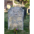 the grave of Anne Bronte. new inscription tablet on next picture