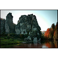 Autumn Landscape Rocks Externsteine Germany