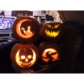 halloween pumpkins scary skull witch jack lantern moon cat