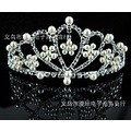 Luxurious AmericaCrystal Pearls Flower Crown High Quality Wedding Crown